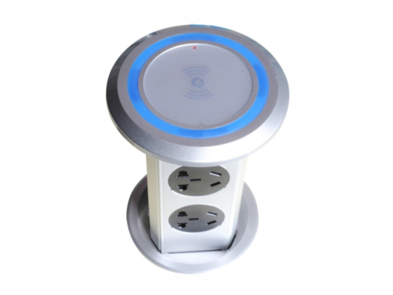 Type socket with wireless charging